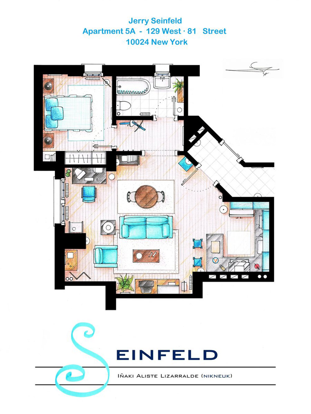 an artist recreated the floor plans for these 9 tv homes and the an artist recreated the floor plans for these 9 tv homes and the results are incredible