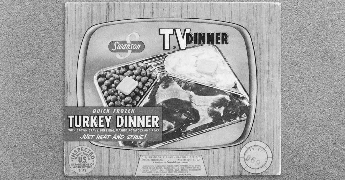 These 8 vintage frozen tv dinners look strange and unhealthy and we