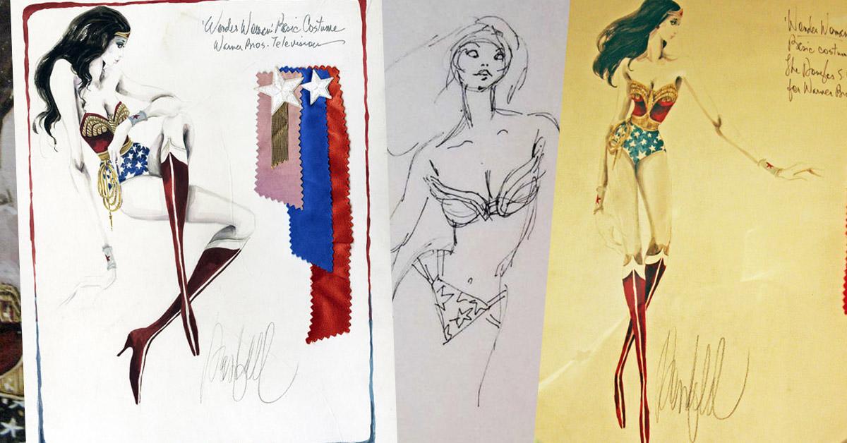 Character Design Lynda : The original concept sketches for wonder woman tv