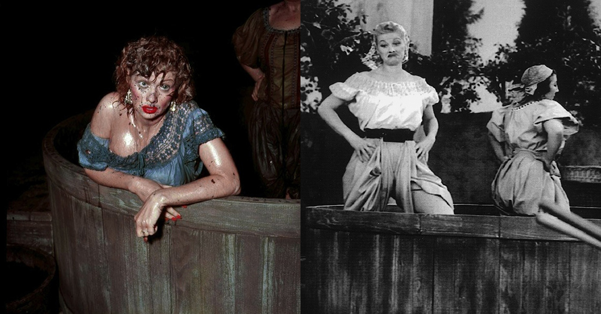 11 Rare Color Photos From The Set Of I Love Lucy