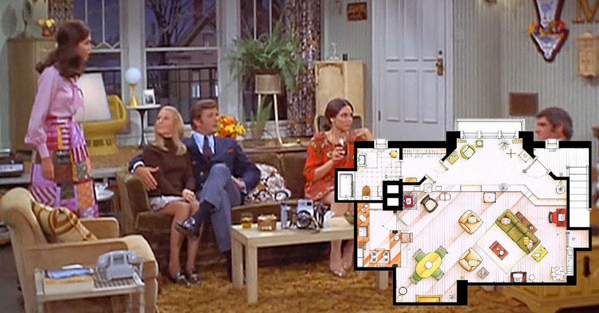 Home Design Tv Shows an artist recreated the floor plans for these 9 tv homes and the