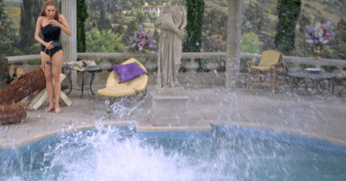 Can you identify these tv shows by their beaches and pools for Beverly hillbillies swimming pool