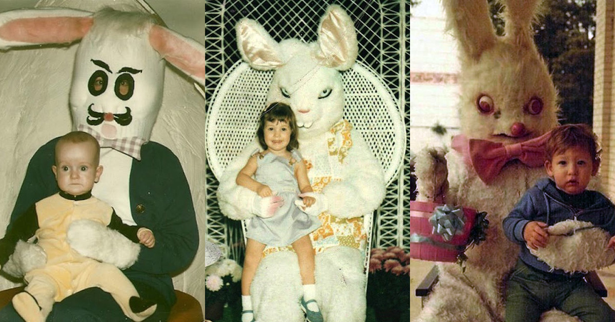 21 terrifying Easter Bunny pictures from back in the day