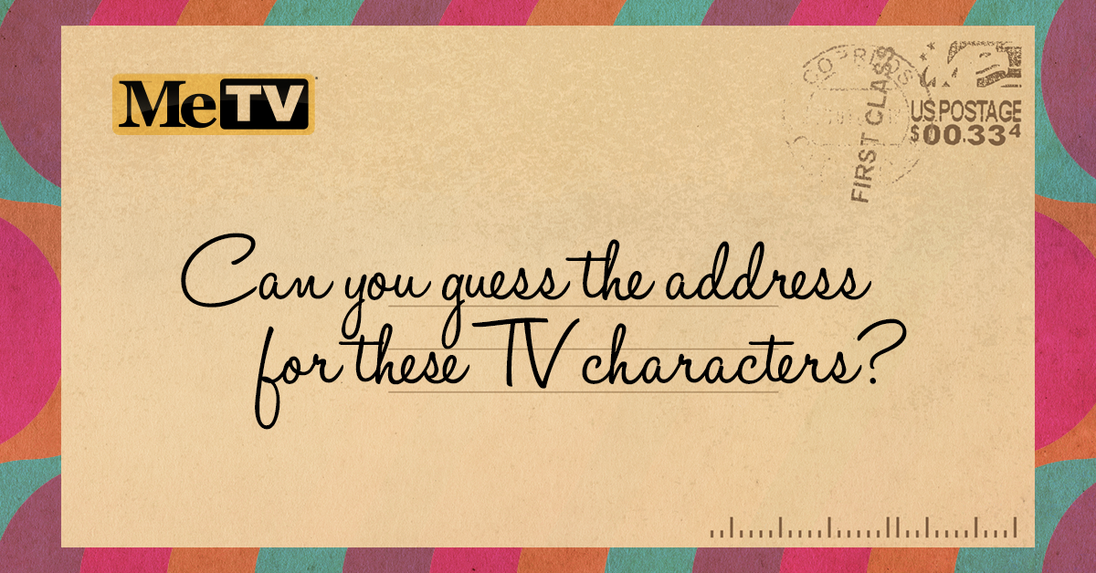 Quiz: Can you guess the address for these TV characters?